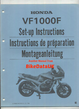 Honda VF1000F SC15 (1984 >>) Genuine Dealers PDI Set-Up Manual VF 1000 F V4 CP32