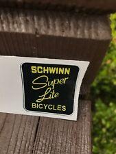 """SCHWINN """"SUPER LITE"""" BICYCLE BIKE VINYL DECAL STICKER"""