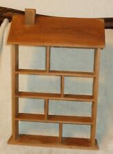 Wooden Wall House Wall Shelf or Stand-Great For Miniature Figurines/Collectibles