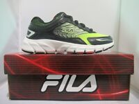 Kids Boys Fila Maranello 4 Athletic Sport Running Play Shoes Black Safety White
