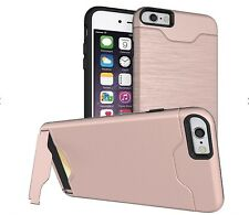 For iPhone 7 & iPhone 8 Shockproof Card Slot Kickstand Hard Cover Phone Case