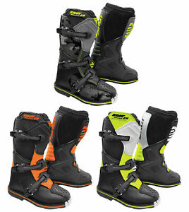 SHOT K10 2.0 KIDS YOUTH CHILDS MOTOCROSS MX OFF ROAD BOOTS UK SELLER