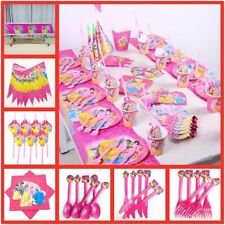 82pcs Disney Princess Birthday Party Supplies Decorations Kids Girl Tableware