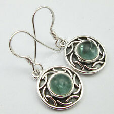 "925 Sterling Silver Unseen APATITE NEW Earrings 1.2"" ETHNIC JEWELRY GIFT STORE"