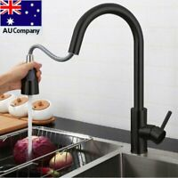 Kitchen Mixer Tap Pull Out Sink Basin Faucet 360° Swivel Spout Brass Black WELS