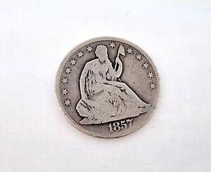 1857 Liberty Silver Half Dollar Coin