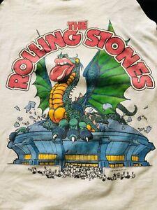 THE ROLLING STONES 1981 TOUR CONCERT SHIRT ORIGINAL WITH DATES SIZE XL NICE