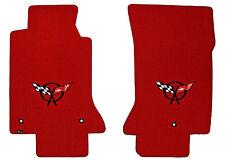 LLOYD Classic Loop™ Red FLOOR MATS Black C5 logos 1997-2004 Chevrolet CORVETTE