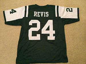 UNSIGNED CUSTOM Sewn Stitched Darrelle Revis Green Jersey - Extra Large
