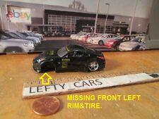 Dub City Jada Blk Nissan 350Z 1:64 DIORAMAS (MISSING LEFT FRONT WHEEL&REAR WING!