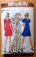 SIMPLICITY SEWING PATTERN NO.6652 LADIES DRESS SIZE 10 VINTAGE