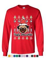 Pugly Sweatshirt Long Sleeve T-Shirt Pug Ugly Sweater Jolly Christmas Xmas Tee