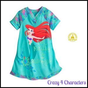Disney Store Licensed Ariel The Little Mermaid Nighty Nightie Size 5 6 Christmas