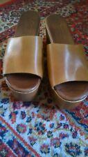 CIABATTA SANDALO ZEPPA SABOT IN VERA PELLE 38 nuove New woman shoes