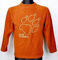 JACK WOLFSKIN Jumper Orange Size 152 cm Age 12 Kids Boys Girls Youth Sweater Top