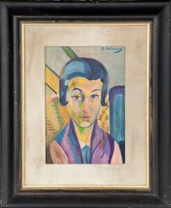 ROBERT DELAUNAY - oil on original canvas from 1900's -