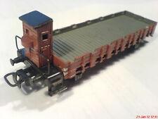 Marklin H0 brown freight car art.no. 321 vers.2 from 1950 w. brakeman cabin