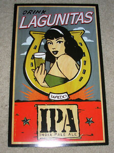 LAGUNITAS Promo Poster HORSE SHOE IPA PALE ALE Retro craft beer brewing brewery