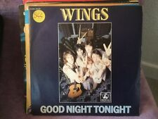 45T vinyl. WINGS  Good night tonight