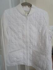 Susan Bristol  Women's XL Quilted White Fundamentals Lightweight Jacket