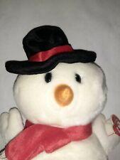 """Ty Beanie Buddies """"Snowball"""" - Beanie Baby - Snowman"""