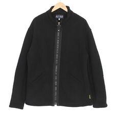 AJ ARMANI JEANS Black Chunky Sherpa Lined Fleece Jacket Men Size XXL MJ1818