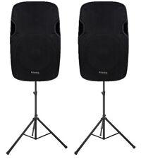 """2 x Ibiza Sound 12"""" Active XTK12A 1000W Speaker PA System DJ Disco PA System"""