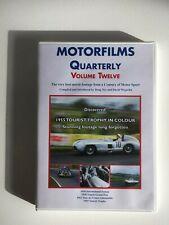 MOTORFILMS QUARTERLY - Volume Twelve - DVD OOP - 1938 Tripoli Grand Prix