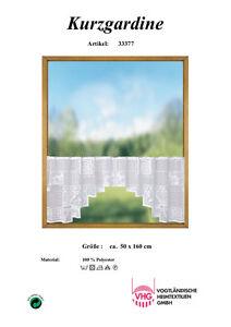 Scheibengardine C-Bogen 160 x 50 cm (BxH) inkl. Vitragenstangen