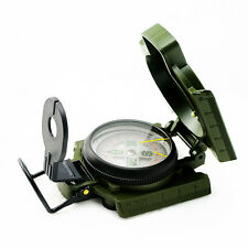 Lensatic Compass Military Camping Hiking Survival Marching Metal Degrees & Mils