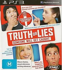PLAYSTATION 3 TRUTH OR LIES PS3 GAME