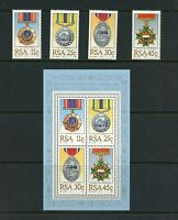T316  South Africa  1984   military medals   set & sheet    MNH