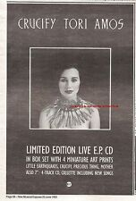 TORI AMOS Crucify 1992 UK Press ADVERT 10x7 inches