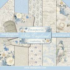 Stamperia New England 12 x 12 Paper Pack Tags Birds Floral