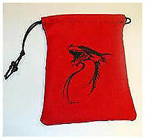 Black Tribal Dragon Dice Bag Gallant Hand's Gamers Gear GAMING SUPPLY BRAND NEW