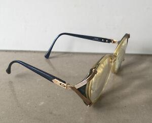 vintage Christian Dior ladies glasses model 2732 50 14 Austrian frame, Gold Trim