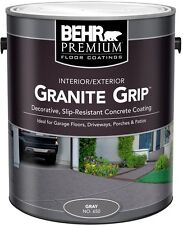 1 gal. Gray Non-Slip Concrete Paint Grey Garage Basement Floor Driveway Coating