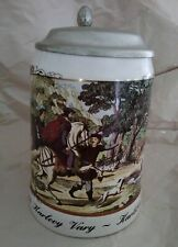 Karlovy Vary - Karlsbad Czech Republic Lidded Ceramic Beer Stein Collectable Mug