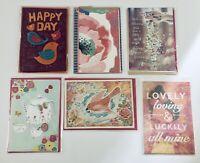 Lot of 6 Hallmark Signature Greeting Cards Bday Any Occasion Friendship Thank U