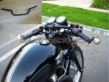 Supermoto Motorcycle Black Cafe Racer Clubman handlebar Bar Clubman Grip Chopper