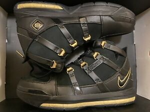 Nike Zoom Lebron III 3 QS Metallic Gold Retro AO2434-001 Black Gold Men's Sz 9.5