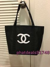Chanel beauty white sequined shopping tote VIP Gift
