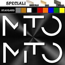 coppia adesivi sticker alfa romeo MITO tuning logo prespaziato,auto decal