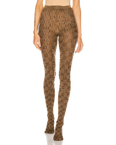100%AUTH NWT GG LOGO brown GUCCI tights THICK SOLD OUT large