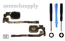 Original Apple iPhone 5S 5GS Home Button Finger Print Sensor Flex Cable - Black
