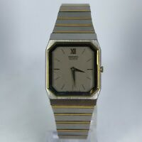 Vintage Seiko Mens 7430-5359 Gold Silver Tone Stainless Steel Band Analog Watch