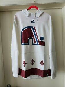 New Colorado Avalanche adidas Reverse Retro Pullover Hoodie Quebec Size Large
