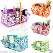 Makeup Cosmetic Storage Box Foldable Stationary Container Desk Organiser Bag P