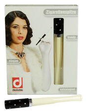 Denicotea Cigarette and Filter Holder - Black & Ivory with Diamonds (20207)