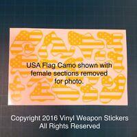 USA Flag Camo Stencil Pack, for Duracoat, Cerakote, Krylon!